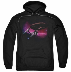 Star Trek pull-over hoodie Prime Directive adult black