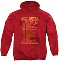 Star Trek pull-over hoodie Red Shirt Tour adult red
