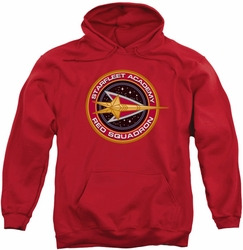 Star Trek pull-over hoodie Red Squadron adult red