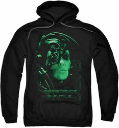 Star Trek pull-over hoodie Resistance Is Futile adult black