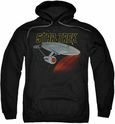 Star Trek pull-over hoodie Retro Enterprise adult black