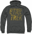 Star Trek pull-over hoodie Schematic Logo adult charcoal