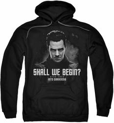 Star Trek pull-over hoodie Shall We Begin adult black