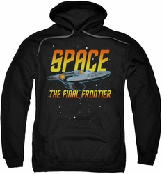 Star Trek pull-over hoodie Space adult black