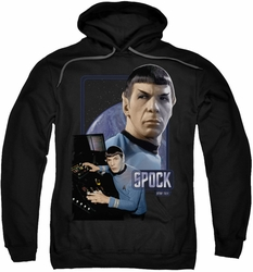 Star Trek pull-over hoodie Spock adult black