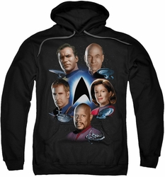 Star Trek pull-over hoodie Starfleet's Finest adult black