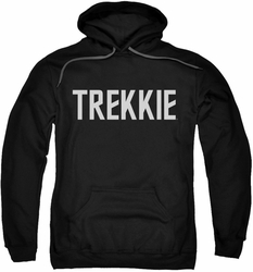 Star Trek pull-over hoodie Trekkie adult black
