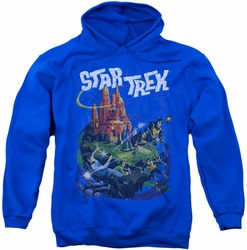 Star Trek pull-over hoodie Vulcan Battle adult royal blue