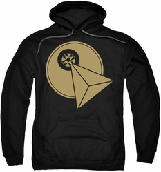 Star Trek pull-over hoodie Vulcan Logo adult black