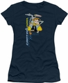 Star Trek Quogs juniors t-shirt Captain's Chair navy
