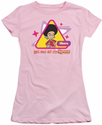 Star Trek Quogs juniors t-shirt Out Of My Space pink