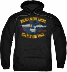 Star Trek Quogs pull-over hoodie Bold adult black
