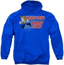 Star Trek Quogs pull-over hoodie Boldly Good adult royal blue
