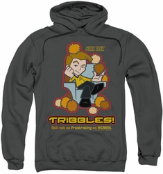 Star Trek Quogs pull-over hoodie Not As Frustrating adult charcoal