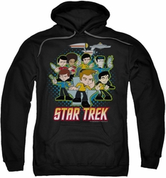 Star Trek Quogs pull-over hoodie Quogs Collage adult black