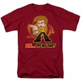 Star Trek Quogs t-shirt Off My Ship mens cardinal