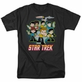 Star Trek Quogs t-shirt Quogs Collage mens black