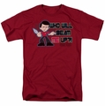 Star Trek Quogs t-shirt Scotty's Dilemma mens cardinal