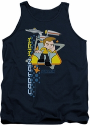 Star Trek Quogs tank top Captain's Chair mens navy