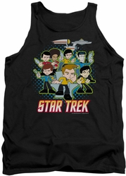 Star Trek Quogs tank top Quogs Collage mens black