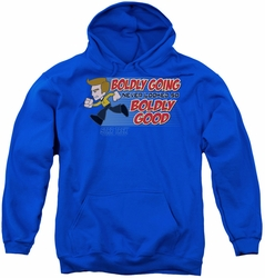 Star Trek Quogs youth teen hoodie Boldly Good royal blue