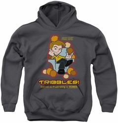 Star Trek Quogs youth teen hoodie Not As Frustrating charcoal