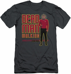 Star Trek slim-fit t-shirt Dead Man Walking mens charcoal