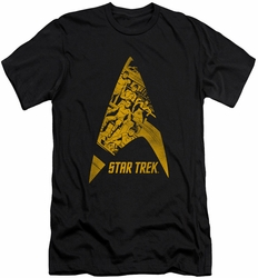 Star Trek slim-fit t-shirt Delta Crew mens black