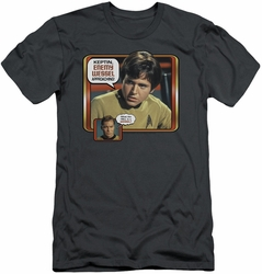 Star Trek slim-fit t-shirt Enemy Wessel mens charcoal