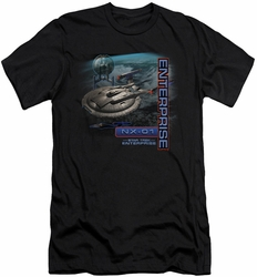 Star Trek slim-fit t-shirt Enterprise Nx 01 mens black