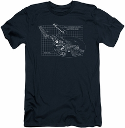 Star Trek slim-fit t-shirt Enterprise Prints mens navy