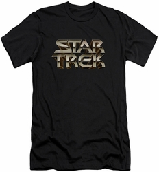 Star Trek slim-fit t-shirt Feel The Steel mens black