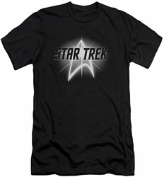 Star Trek slim-fit t-shirt Glow Logo mens black