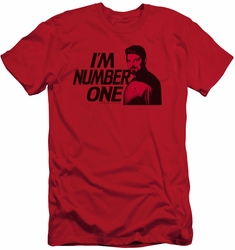 Star Trek slim-fit t-shirt Im Number One mens red