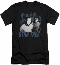 Star Trek slim-fit t-shirt Kirk Spock And Company mens black