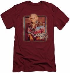 Star Trek slim-fit t-shirt Ladies Man mens cardinal