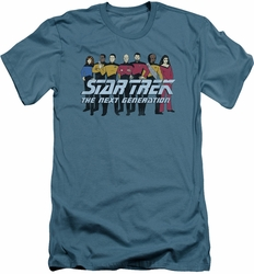 Star Trek slim-fit t-shirt Line Up mens slate