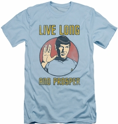 Star Trek slim-fit t-shirt Long Life mens light blue