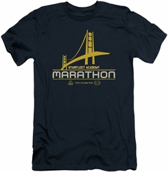 Star Trek slim-fit t-shirt Marathon Logo mens navy