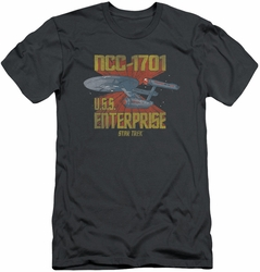 Star Trek slim-fit t-shirt Ncc1701 mens charcoal
