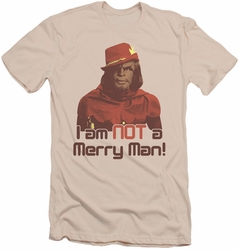 Star Trek slim-fit t-shirt Not Merry mens cream