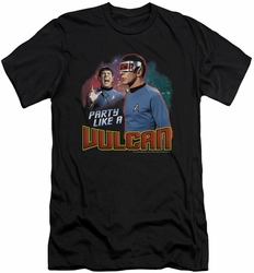 Star Trek slim-fit t-shirt Party Like A Vulcan mens black