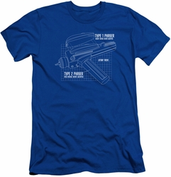 Star Trek slim-fit t-shirt Phaser Plans mens royal blue