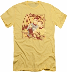 Star Trek slim-fit t-shirt Shoot That Thing mens banana