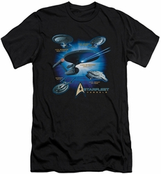 Star Trek slim-fit t-shirt Starfleet Vessels mens black
