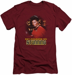 Star Trek slim-fit t-shirt Stunning mens cardinal