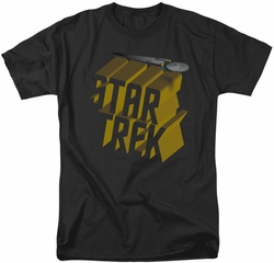 Star Trek t-shirt 3D Logo mens black