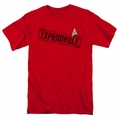 Star Trek t-shirt Expendable mens red