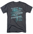 Star Trek t-shirt TNG 25 Never forget mens charcoal