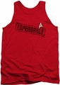 Star Trek tank top Expendable mens red